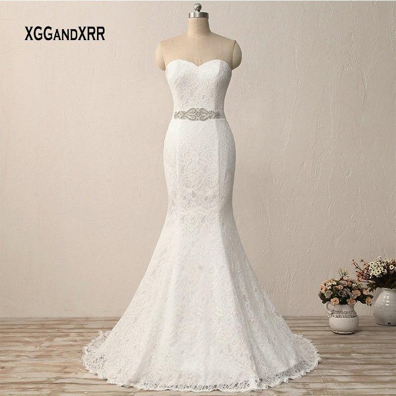 030654cca80f1f Big Sale Lace Mermaid Wedding Dress 2019 Sweetheart off Shoulder Sexy  Backless Long Bride Dress Vestido