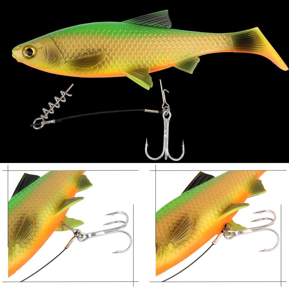 100 ชิ้น/ล็อต 19 มม.ตะขอตกปลาเชื่อมต่อ Pins เข็ม FIXED LOCK Assist Soft Lure อุปกรณ์ตกปลาเครื่องมือ