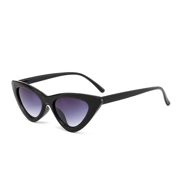 Peekaboo cute sexy retro cat eye sunglasses women small black white 2018 triangle vintage cheap sun glasses red female uv400 3