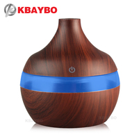 USB 300ml Aroma Humidifier Aromatherapy Wood Grain 7 Color LED Lights Electric Aromatherapy Essential Oil Aroma
