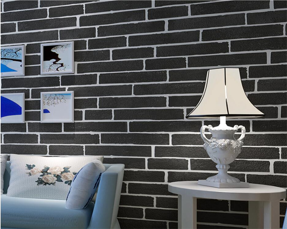 Beibehang wall paper home decor Three-dimensional brick wallpaper 3D living room bedroom TV sofa background 3d wallpaper roll beibehang precision pressure 3d three dimensional non woven wallpaper sofa wall paper wallpaper living room bedroom full shop