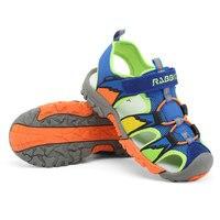 Summer New Style Children Shoes Boys Fashion Cut Outs Sandals Kids Canvas Rain Sandals Breatherable Flats