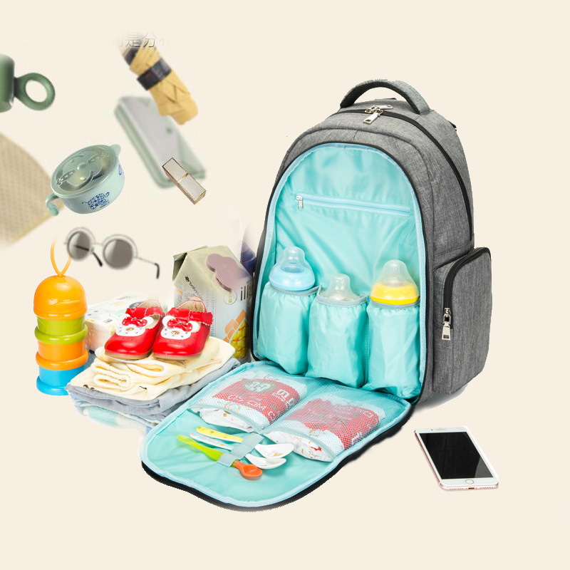 Large Capacity Baby Diaper Bag With Milk Bottle Bags Baby Nappy Mummy Bag Maternity Travel Backpack for mom Nursing bags Mochila