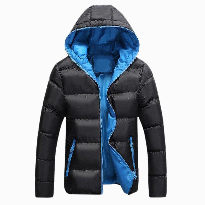 2019 New Autumn Winter Jacket Men Casual Slim Fit Hooded   Parka   Men Solid Hooded Spring Winter Coat Men S-4XL