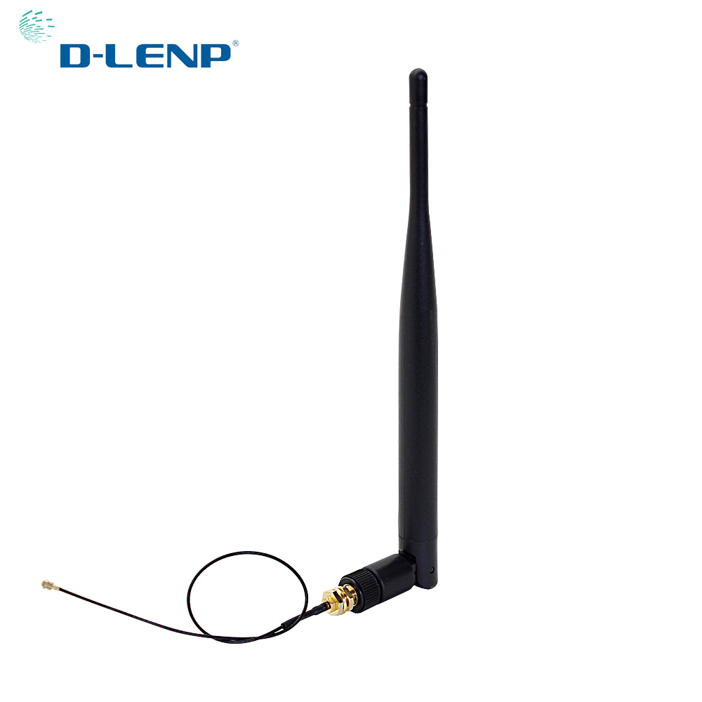 2.4GHz WiFi Antenna 5dBi Aerial RP-SMA Male Connector 2.4g Antena WIFI Router +20cm PCI U.FL IPX To SMA Male Pigtail Cable