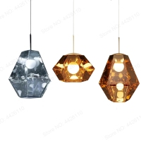 BLUBBLE Acrylic Pendant Lights Tom Dixon Figure Pendant Lamp Metallic Crysta Hanglamp Hotel Hall Parlor Hanging LED Lamp