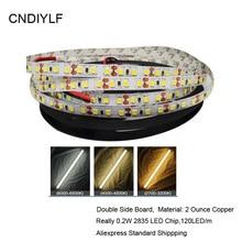 Fast Shipping High Brightness White 2835 LED Strip 5m Light Family Emitting Diode Tape 0.2W/ LED DC 12V 24V 5m/Roll,120LED/m