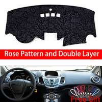 Rose Pattern For Ford fiesta 2004 2005 2006 2007 2014 Dashboard Cover Car Stickers Car Decoration Car Accessories Car Decals