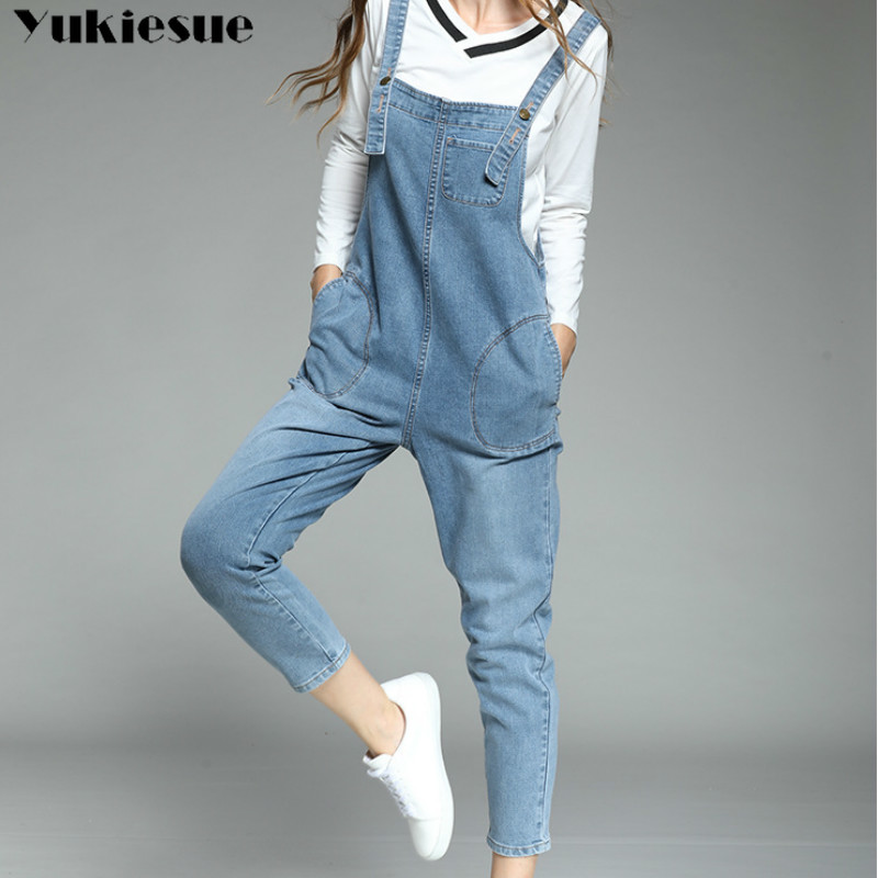 Jeans Woman Denim Women's Overalls Ripped Jeans For Women High Waist Jumpsuits Denim Pants Jean Femme Female Jumper Trousers