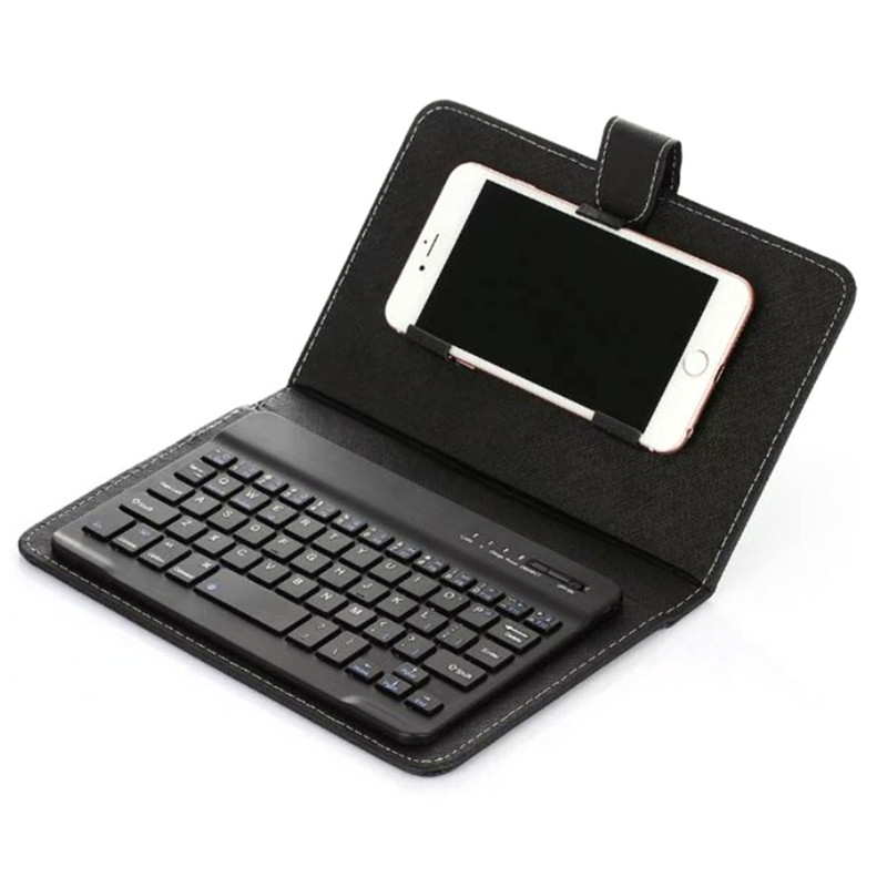 PU Leather Bluetooth Wireless Keyboard Case Protective Cover for iPhone iPad Huawei Xiaomi Samsung Mobile Phone