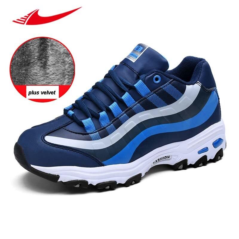 Beita Winter Lovers Sneakers Warm Male Running Shoes Jogging Plus Velvet Ladies Sport Shoes Non-slip Erkek Spor Ayakkabi