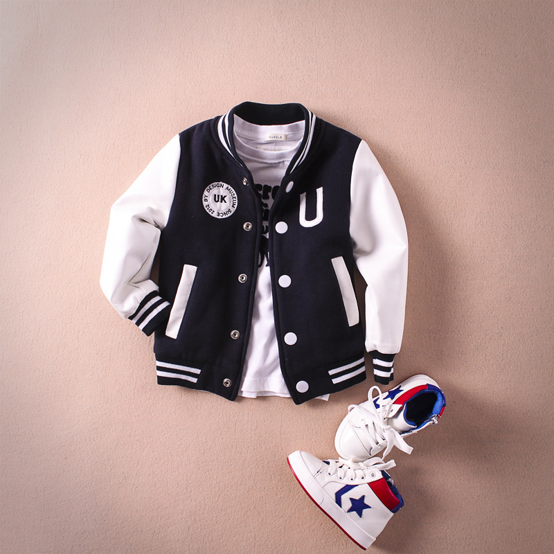 Baby Boy Clothes Boys Jacket Spring Letter Boys Outwear For Children Brand Kids
