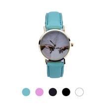 SmileOMG Women Lady Leather Analog Quartz Wrist Watch ,Aug 18