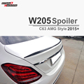 W205 Substituição Mercedes C63 AMG Estilo Fibra De Carbono Spoiler Para 2015 2016 2017 Benz Classe C 4 porta Tampa da Mala