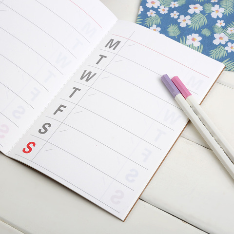 New Weekly Planner Notebook School Tools Stationery Planner 32 Inner Pages Cute Day Planner Paper Quality Islamabad