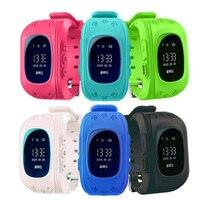 Vwar Q50 montre Smart watch Enfants Enfant Montre-Bracelet GSM GPRS GPS Locator Tracker Anti-Perte Smartwatch Enfant Garde pour iOS Android