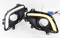 eOsuns Car DRL LED Daytime Running Light Daylight For Mazda 6 2013 2014 2015,With Auto Yellow Turning Function!Matte Black Cover