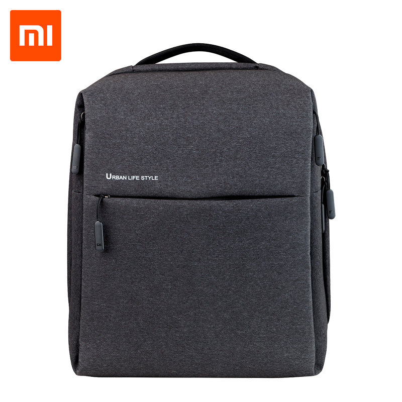 Original Xiaomi Mi Backpack Urban Life Style Shoulders Bag Rucksack Daypack School Bag Duffel Bag- ը տեղավորվում է 14 դյույմ Laptop դյուրակիր