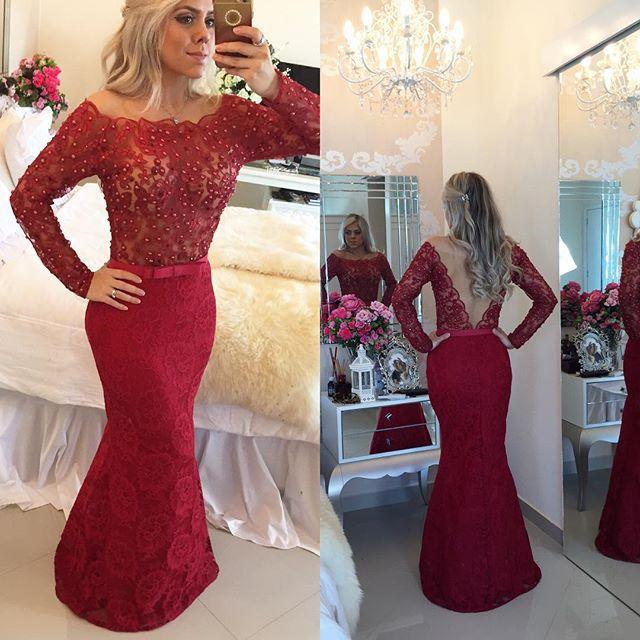 2015 Prom Dresses Long Sleves