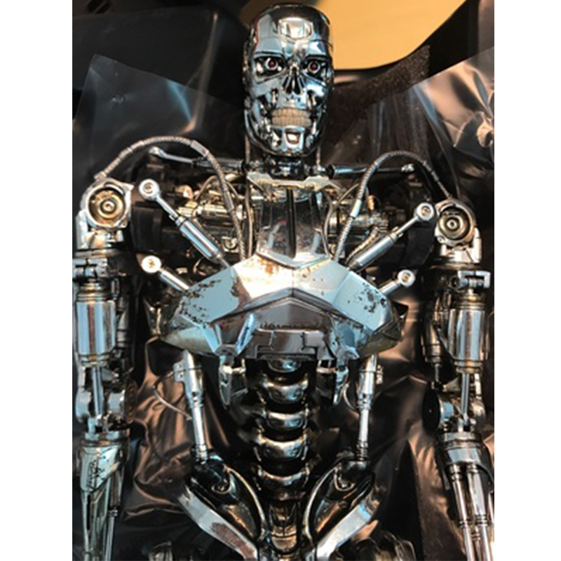 Original HT Hottoys MMS352 1/6 Terminator Genisys 5 T800 Endoskeleton Collection Action Figure high quality 1 1 scale terminator t800 t2 skull endoskeleton lift size bust figure resin replica led eye