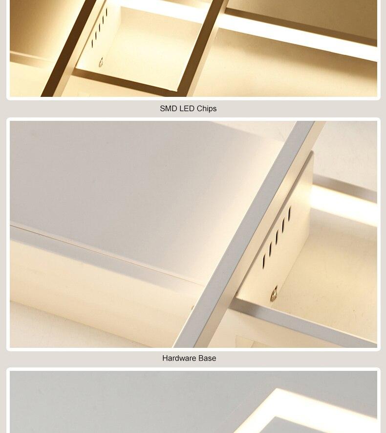 HTB1vkThaU rK1Rjy0Fcq6zEvVXaK NEO Gleam Rectangle Aluminum Modern Led ceiling lights for living room bedroom AC85-265V White/Black Ceiling Lamp Fixtures