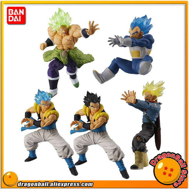 """Dragon Ball Super"" Original VS Batalha BANDAI Gashapon PVC Toy Figura Parte 9-Conjunto Completo de 5 peças Broly Trunks Vegeta Gogeta"