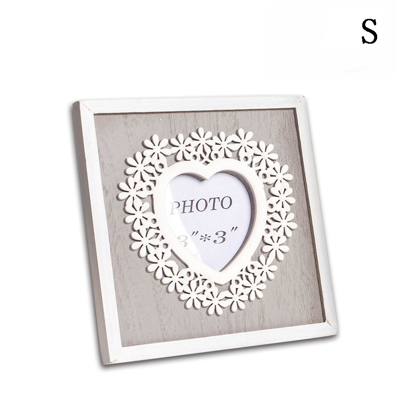 Retro 3 or 4 inch Heart Square photo frame set picture frames ...