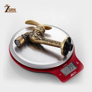 Image 5 - ZGRK grifo de latón frío para baño, grifos de jardín para exteriores, fregona para máquinas de lavado, grifo decorativo antiguo