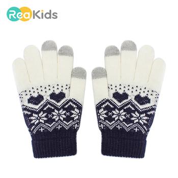 REAKIDS dzieci dziecko ekran dotykowy zimowe rękawiczki dzieci chłopiec dziewczyna ciepłe rękawiczki bawełniane z nadrukiem cieplejsze smartfony rękawiczki rękawiczki tanie i dobre opinie COTTON Acrylic COTTON ACRYLIC S8R0601014 Dla dzieci 22*12 Drukuj Unisex 6 colors 3-8 Years old Winter Printing