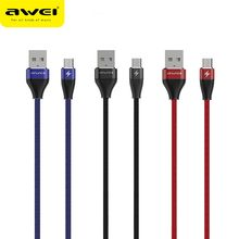 Awei  mobile phone data line 2.4A safe and fast Fabric weaving wire charging quick for Android