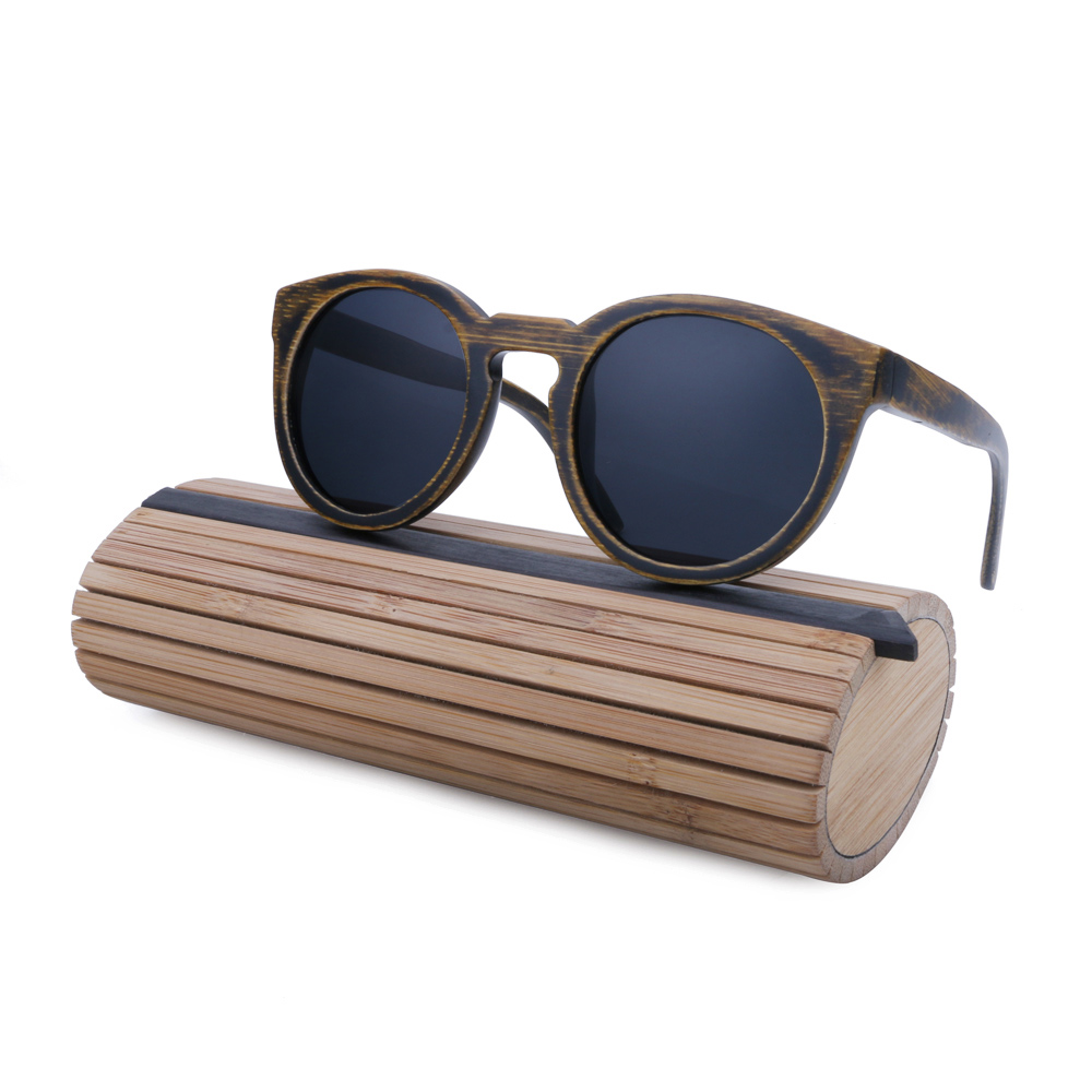 Wooden Framed Fashion Glasses : BerWer round Frame Bamboo Sunglass 2017 Fashion Wooden ...