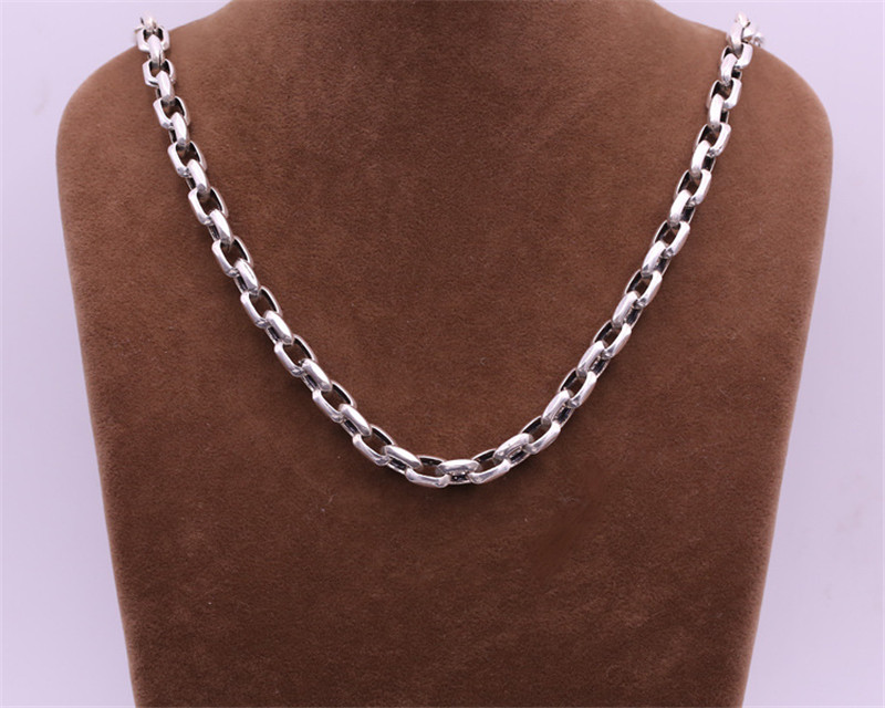 8mm S925 Silver Chain Necklace  Thai Silver Fashion Personality Mens Popular Thick Necklace FREE SHIPPING8mm S925 Silver Chain Necklace  Thai Silver Fashion Personality Mens Popular Thick Necklace FREE SHIPPING