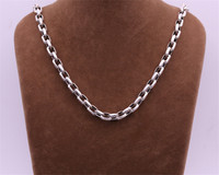 8mm S925 Silver Chain Necklace Thai Silver Fashion Personality Men's Popular Thick Necklace FREE SHIPPING