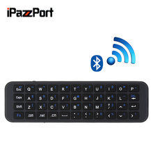 IpazzPort 56S English Mini Wireless Bluetooth Keyboard Remote Control Handheld PC Keyboard For Tablet,Smart TV Box,Phone,Desktop