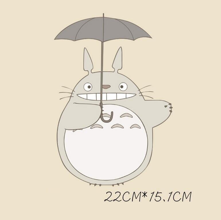 Totoro hierro en Parches a-nivel lavable Adhesivos transferencia de ...