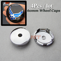60mm 2 36inch Wheel Center Cap Modified Custom For Wing Logo Car Wheel Hub Caps