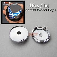 60mm 2 36inch Wheel Center Cap Modified Custom For Wing Logo Car Wheel Hub Caps