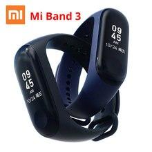 Xiaomi mi Band 3 Смарт-браслет с 0,78 «OLED сенсорный экран пульсометр водонепроницаемый темп фитнес-трекер mi Band 3 Smart
