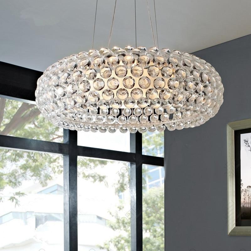 Lampes suspendues modernes en verre de Caboche pour la cuisine salon salle à manger lumière fixtrue éclairage à la maison lampe pendante