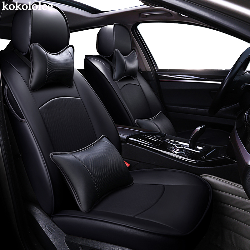 kokololee custom real leather car seat cover for Volkswagen vw Beetle Touareg Tiguan Phaeton EOS Scirocco R36 Multivan car seats
