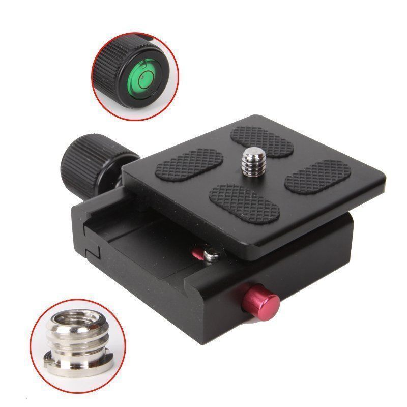 50x50mm QR Quick Release and Clamp Plate Compatible for Monpod Tripod Ball Head