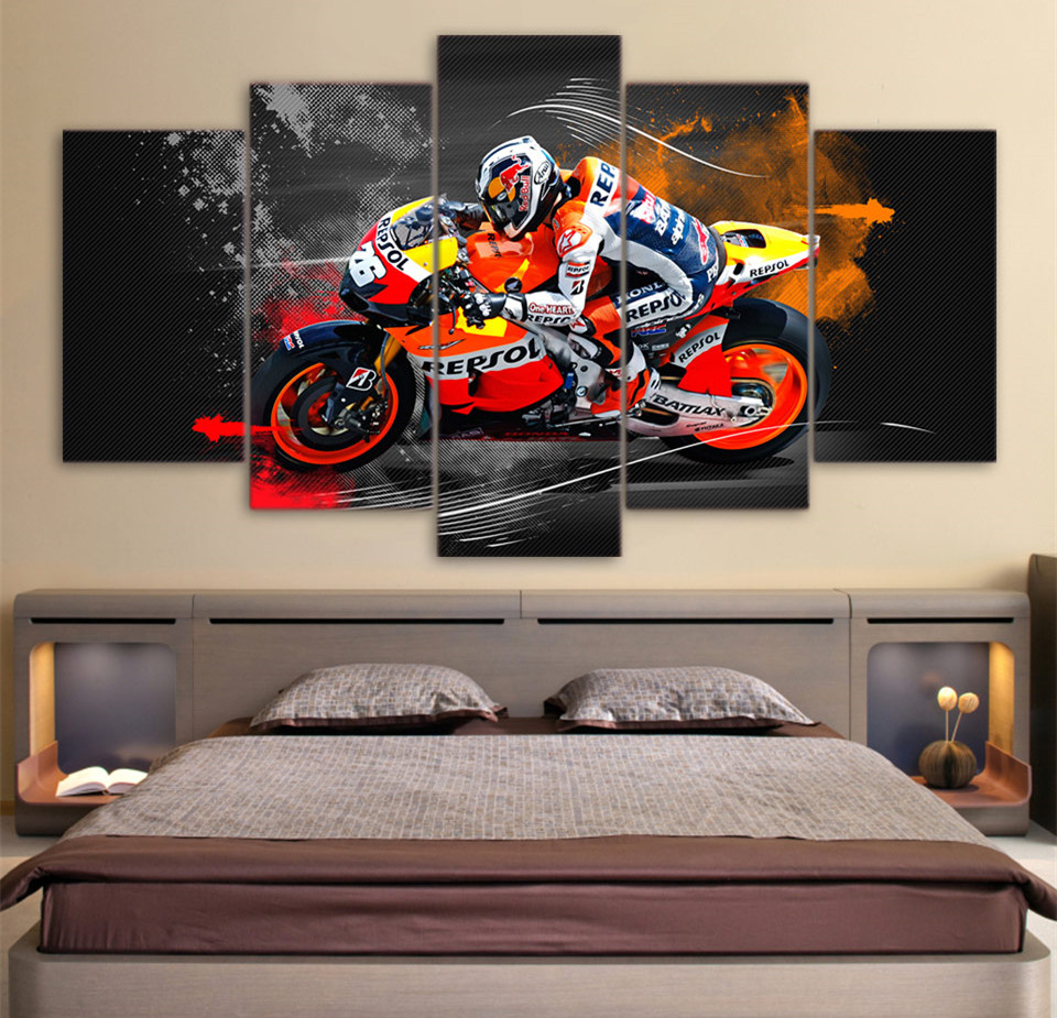5-piece-canvas-wall-art-fontbred-b-font-fontbbull-b-font-racing-canvas-painting-framed-art-canvas-po
