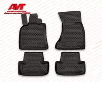Floor mats case for Audi Q5 2009 4 pcs rubber rugs non slip rubber interior car styling accessories