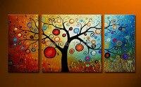 3 עיצוב לוח קיר אמנות בד מודרני מופשט יח'\סט לעשות הון תמונת יצירות אמנות עץ קישוט בית ציור שמן