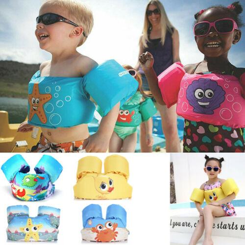 2019 Puddle Jumper Swimming Deluxe Cartoon Life Jacket Safety Vest For Kids Baby Children's Life Jacket