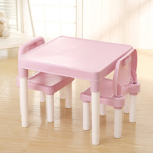 Chair-Set Kindergarten Children's Table Study-Table Writing-Desk Plastic And Toy Baby