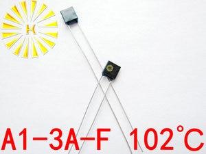 100% Original A1-3A-F 102 degree Thermal Cutoff RH102 Thermal-Links 3A 250V Black Square Temperature Fuse x 500PCS