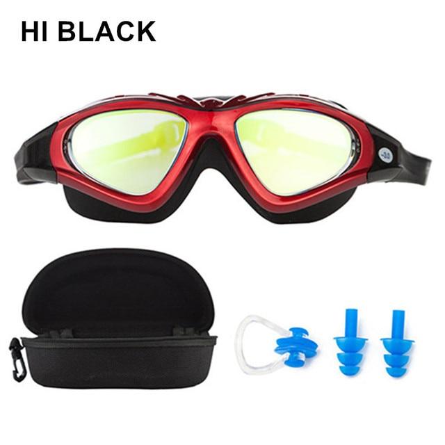 6abbc09cb32 Prescription Optical Myopia Swimming goggles+Nose Clip+Ear Plugs diopter  Swim Silicone professional Large