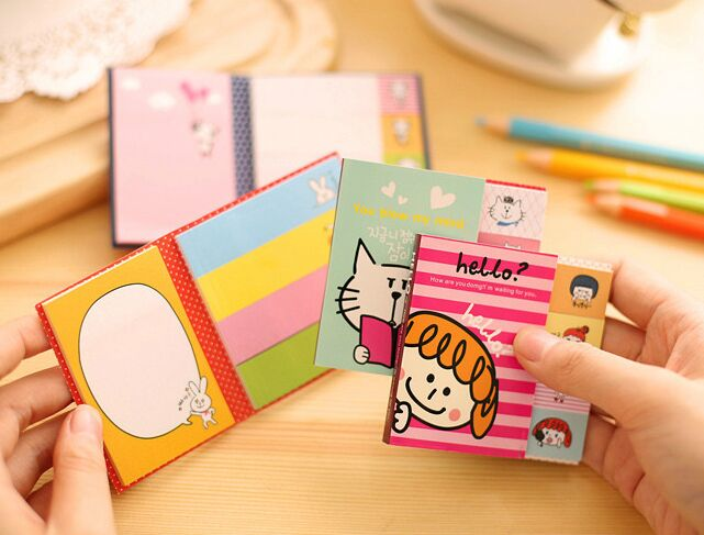 3pcs Kawaii Cartoon Animal Sticky Notes Memo Pad Paper Sticker Post It Notepad Office School Stationery Escolar Papelaria