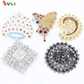 AMGJ Wholesale Fashion Brooches Lots 5Pcs Exquisite Crystal Rhinestone Peacock Butterfly Brooch Pin Silver Gold Plated